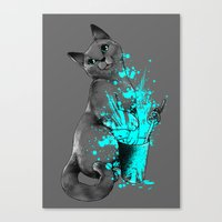russian Canvas Prints featuring Russian Blue by Anwar Rafiee