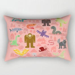 Cryptids of the Pacific Northweird Rectangular Pillow