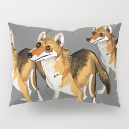 Senegalese Wolf in grey Pillow Sham