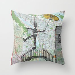 Portland, Oregon Throw Pillow