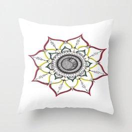 Rastafari Unalome Mandala Throw Pillow