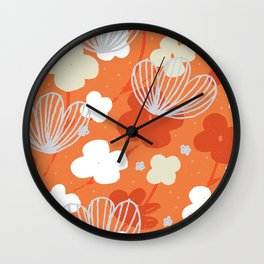 Spring Garden M+M Tangerine by Friztin Wall Clock