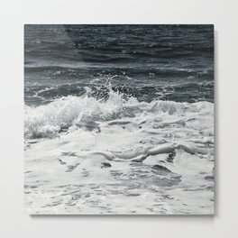 Steel blue ocean dreams Metal Print