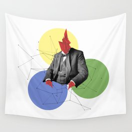 Abstract Collage Wall Tapestry