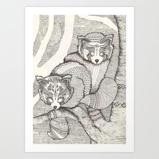 red pandas Art Print
