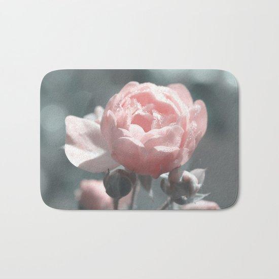 Romantic rose at Backlight- roses Bath Mat