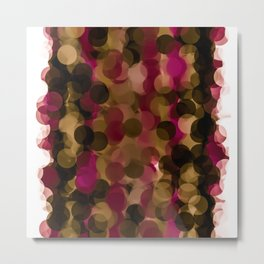 Cranberry Bubbles Metal Print