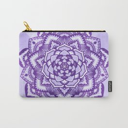 Violet mandala pattern Carry-All Pouch