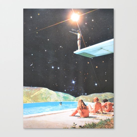 Diving Space Canvas Print