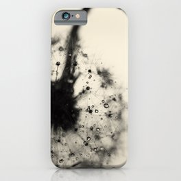 dandelion black iPhone Case