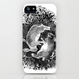 rabbits at rest iPhone Case