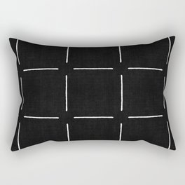Block Print Simple Squares Rectangular Pillow