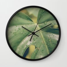 Philomena Philodendron Wall Clock