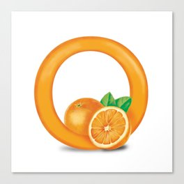 O is for Orange Canvas Print