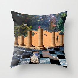 The Elemental Tourist - Water Throw Pillow