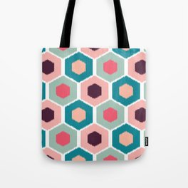 ikat honeycomb Pink #homedecor Tote Bag
