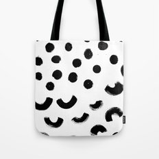 Black rainbows on a rainy day. Tote Bag