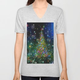 Chrismas Tree  2 Unisex V-Neck
