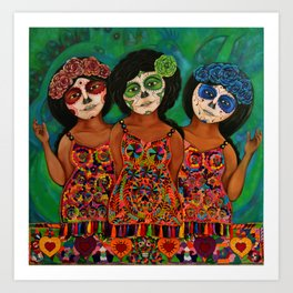 The three Catrinas Art Print