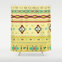 southwest Shower Curtains featuring southwest by studiomarshallarts