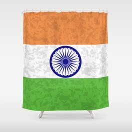 Flag of India Shower Curtain