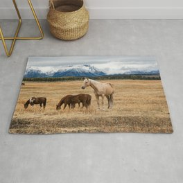 Mountain Horse - Western Style in the Grand Tetons Rug