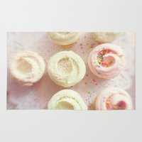 cupcakes Area & Throw Rugs featuring Cupcakes by Kim Fearheiley Photography