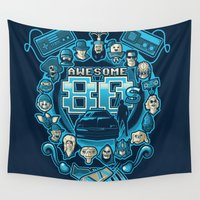 80s Wall Tapestries featuring AWESOME 80s by Letter_q