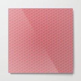 Pink Honeycomb Metal Print