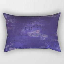 Sheet Music - Mixed Media Partiture #1 Rectangular Pillow