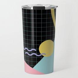 Memphis Pattern 7 - 80s - 90s - Retro Travel Mug