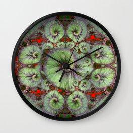 Escargot Begonias Abstract Wall Clock