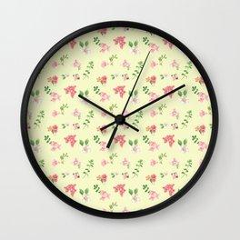 WATERCOLOR FLORAL Wall Clock