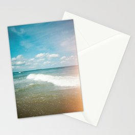 Lonely Boat in the Distance of the Outer Banks - Light Leak Film Photograph in Nags Head, NC  Stationery Cards