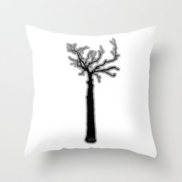 Black & White Tree's Throw Pillow