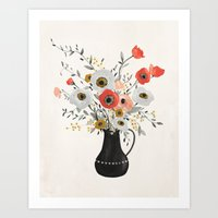 poppies Art Prints featuring Poppies by Kelli Murray