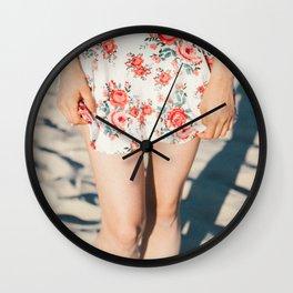 Flower Dress Wall Clock