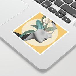 Floral Portrait /collage 3 Sticker