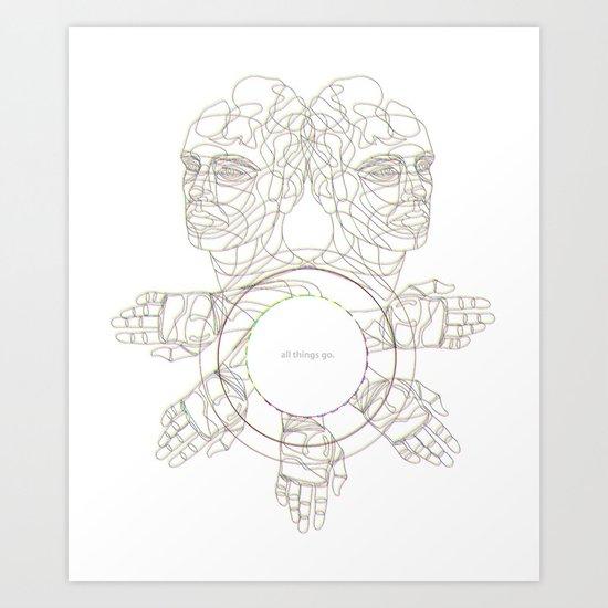 All Things Go. 3-D Art Print