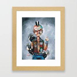 Skunk Punk Framed Art Print
