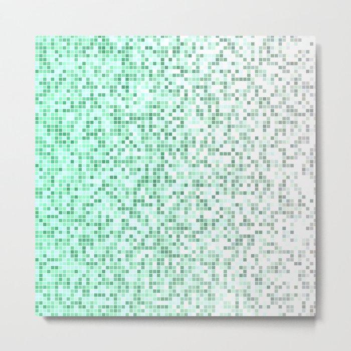 Bathroom pixels Metal Print