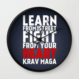 Learn from the Street Krav Maga Wall Clock