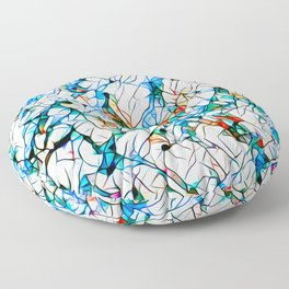 Glass stain mosaic 1 abstract - by Brian Vegas Floor Pillow