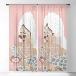 Quarantine Queen Sheer Curtain