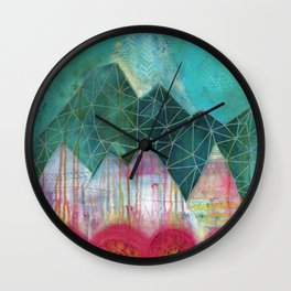 Mountain Winter Solstice Wall Clock