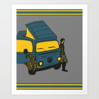 van Art Prints featuring Van by AndaLouz