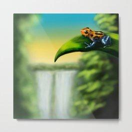 Adventure Frog Metal Print