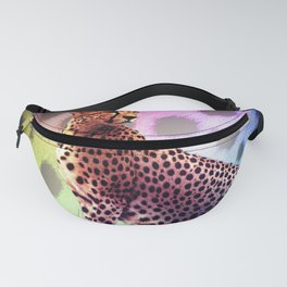 Cute Rainbow Cheetah Fanny Pack