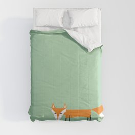 Cute little red fox foxy ladie Comforters