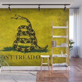 Gadsden Flag, Don't Tread On Me in Vintage Grunge Wall Mural